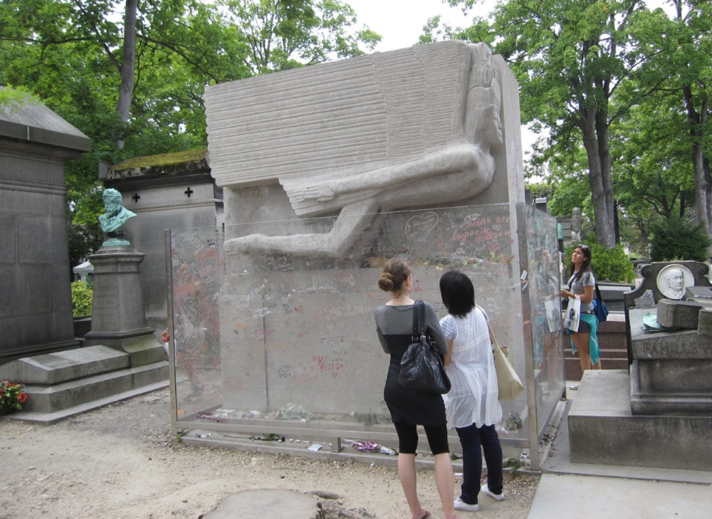 Oscar Wilde's tombstone at Père Lachaise Cemetery
