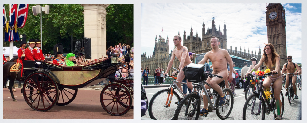 The Queen's Birthday & The Naked Bike Ride