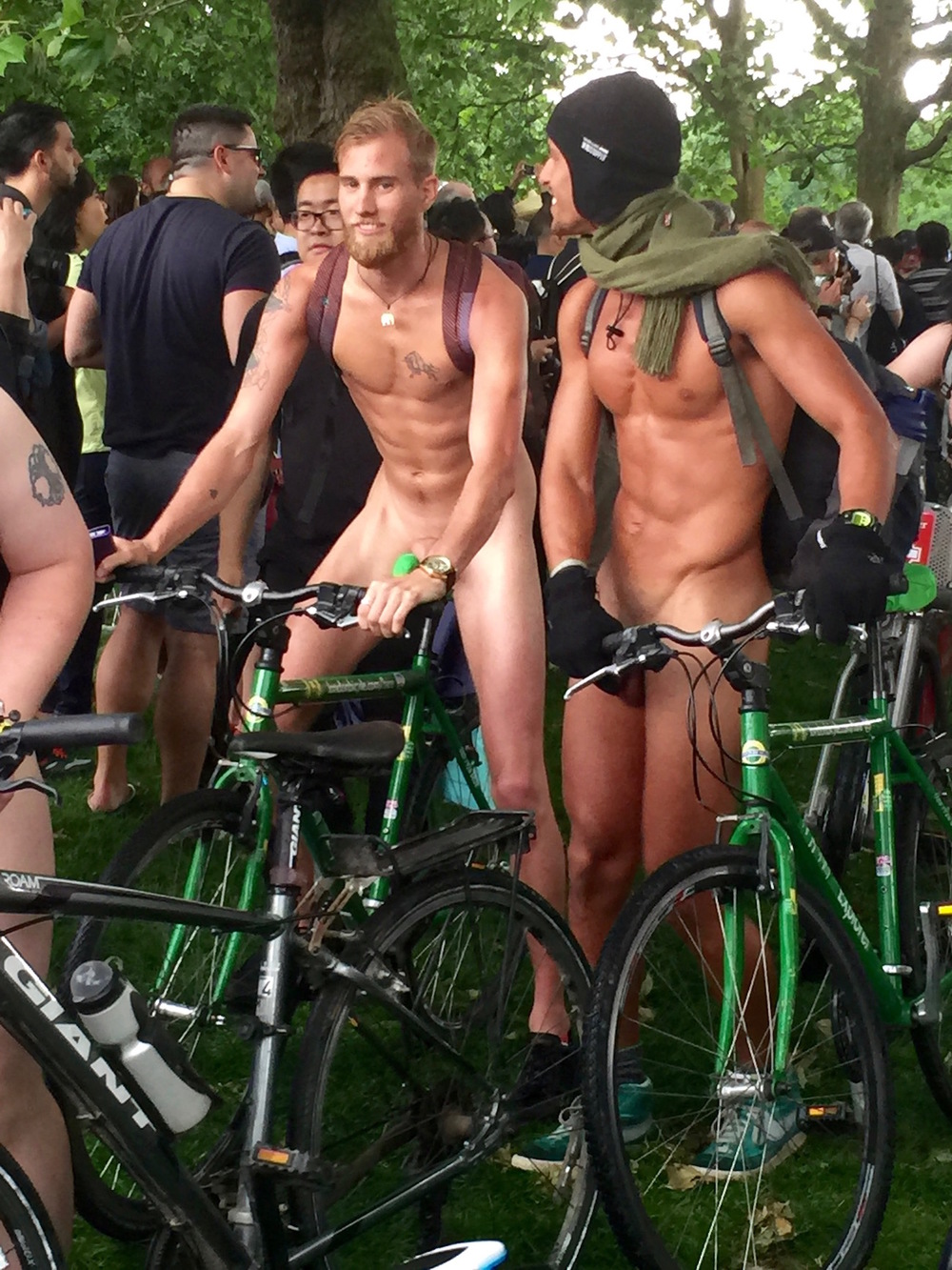 Handsome Naked bike Riders