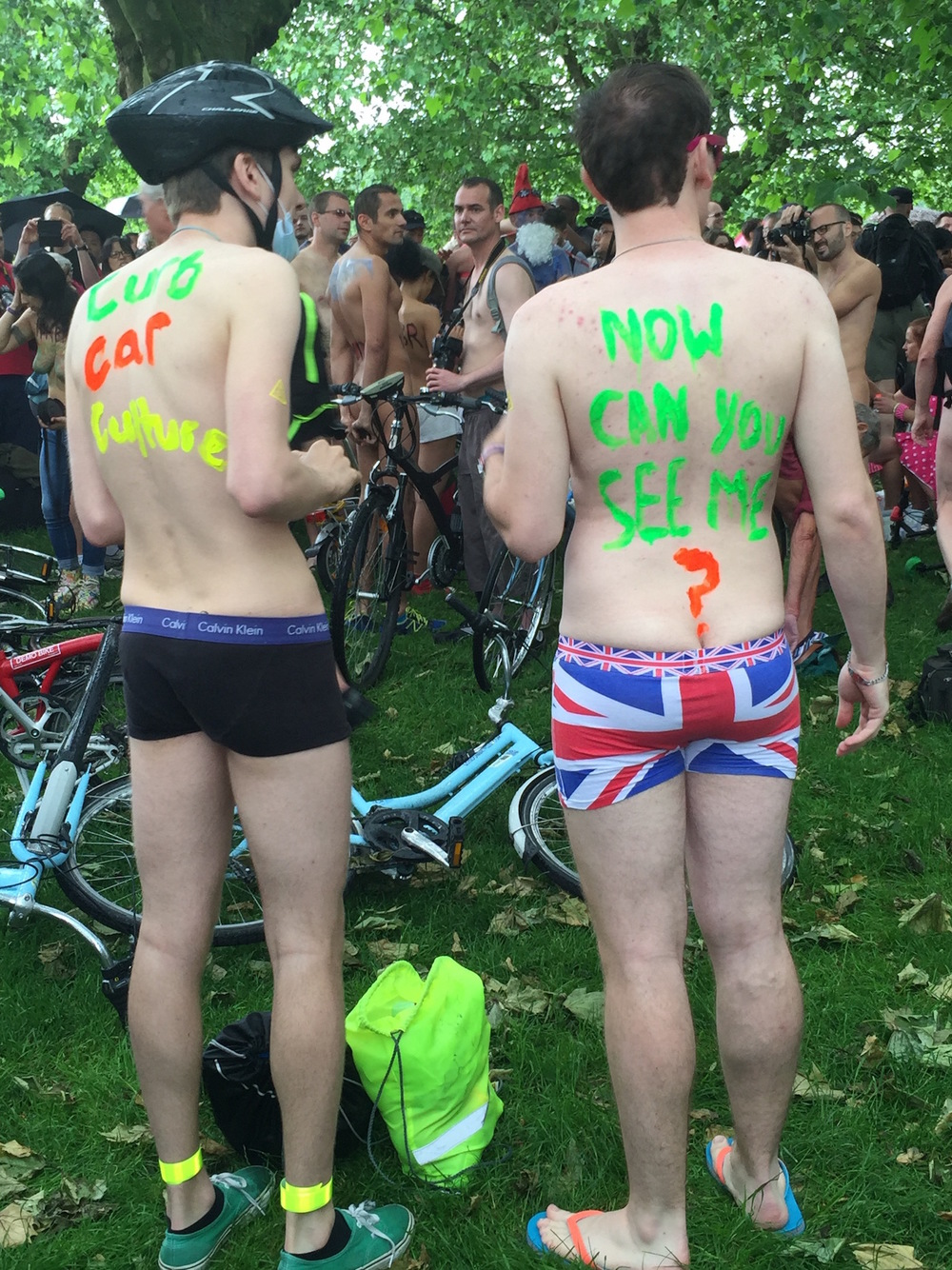 Now Can You See Me? World Naked Bike Ride London 2016