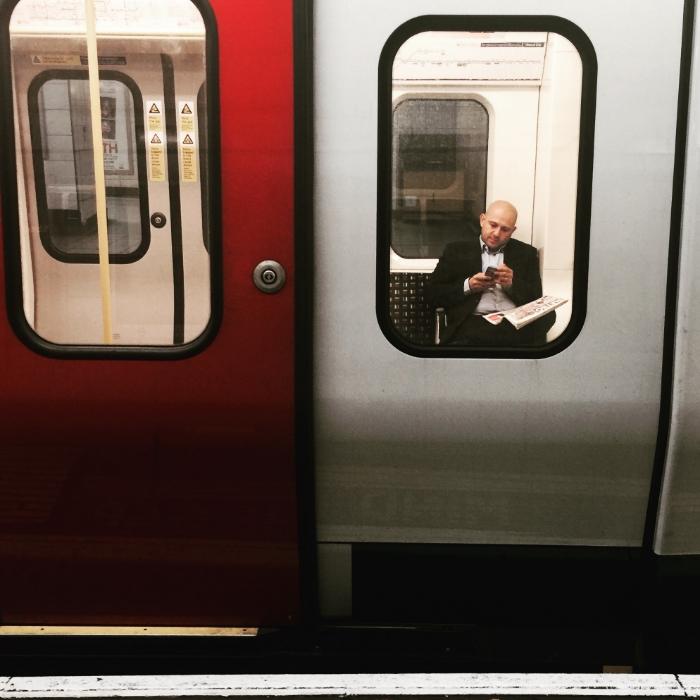 Man on the London Underground.