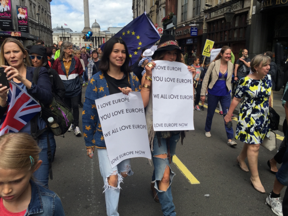 March For Europe.  UK Anti-Brexit vote protests