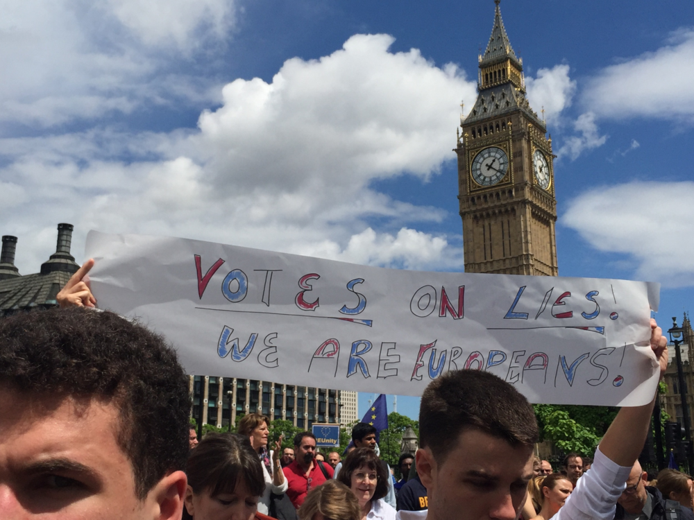 Votes are Lies. March For Europe Anti Brexit Protest