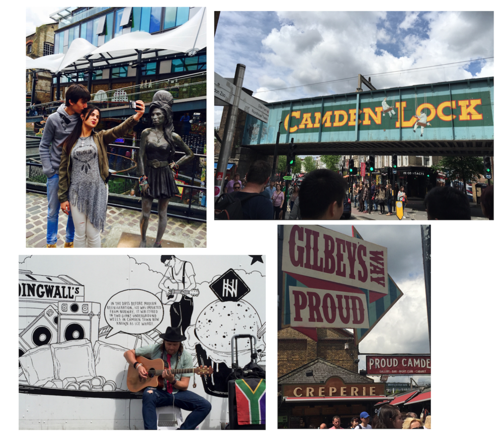 Spending the day in Camden Town Market.