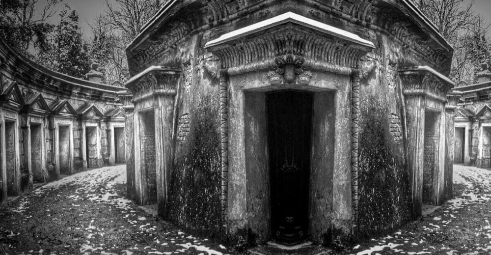 Crypts in Highgate Cemetery, London