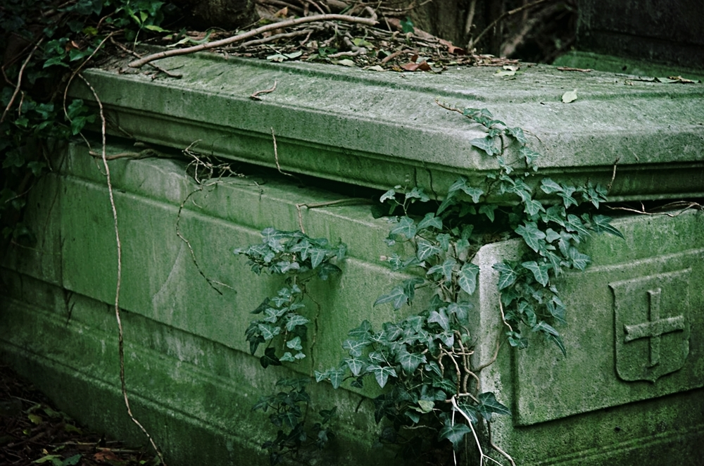 Tombstone in Highgate Cemetery, London