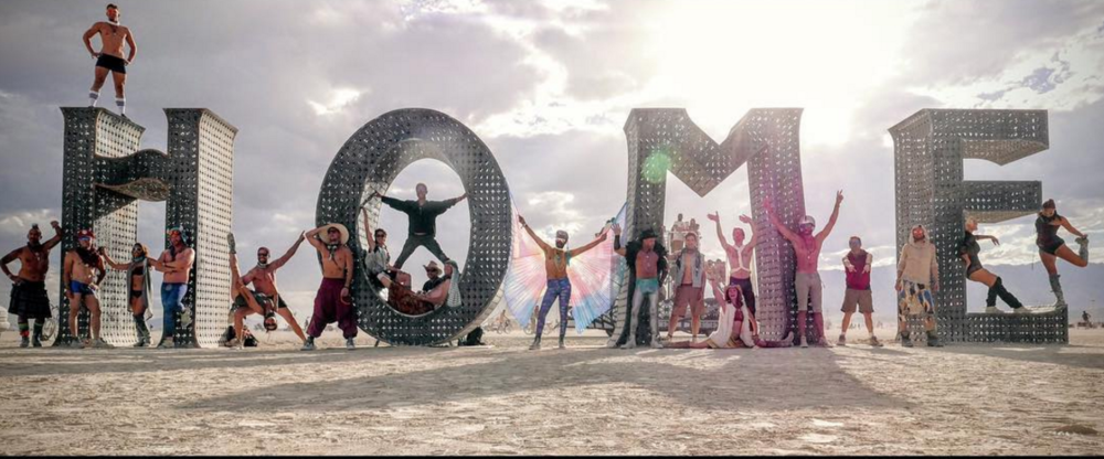 Art Installation called HOME. Burning Man