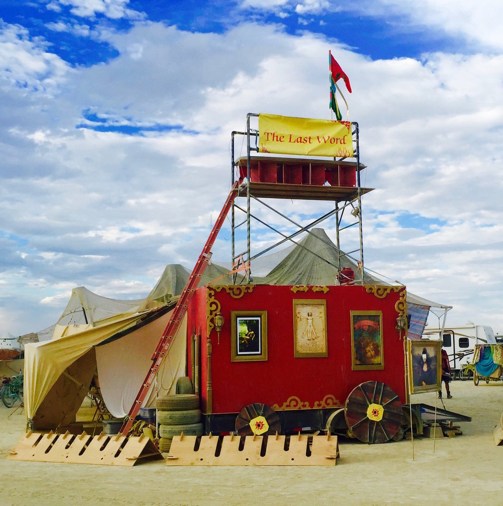 The Last Word Camp at Burning Man, 2016