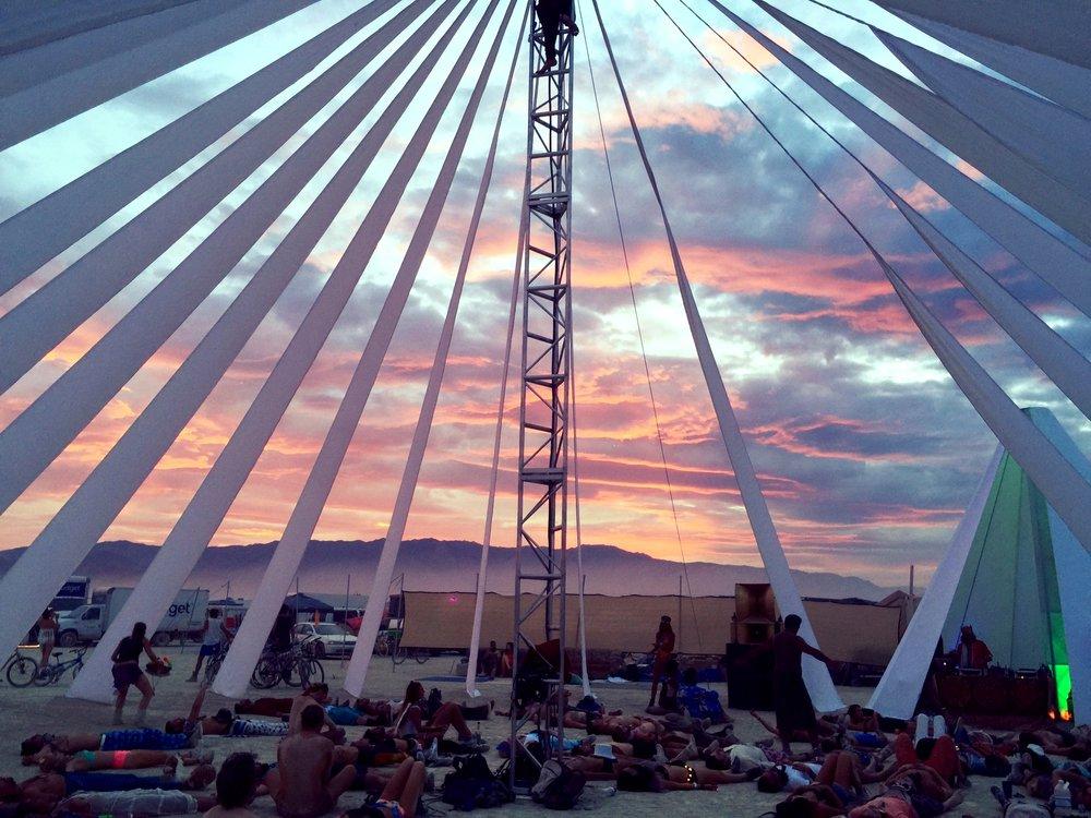 The meditation tent.