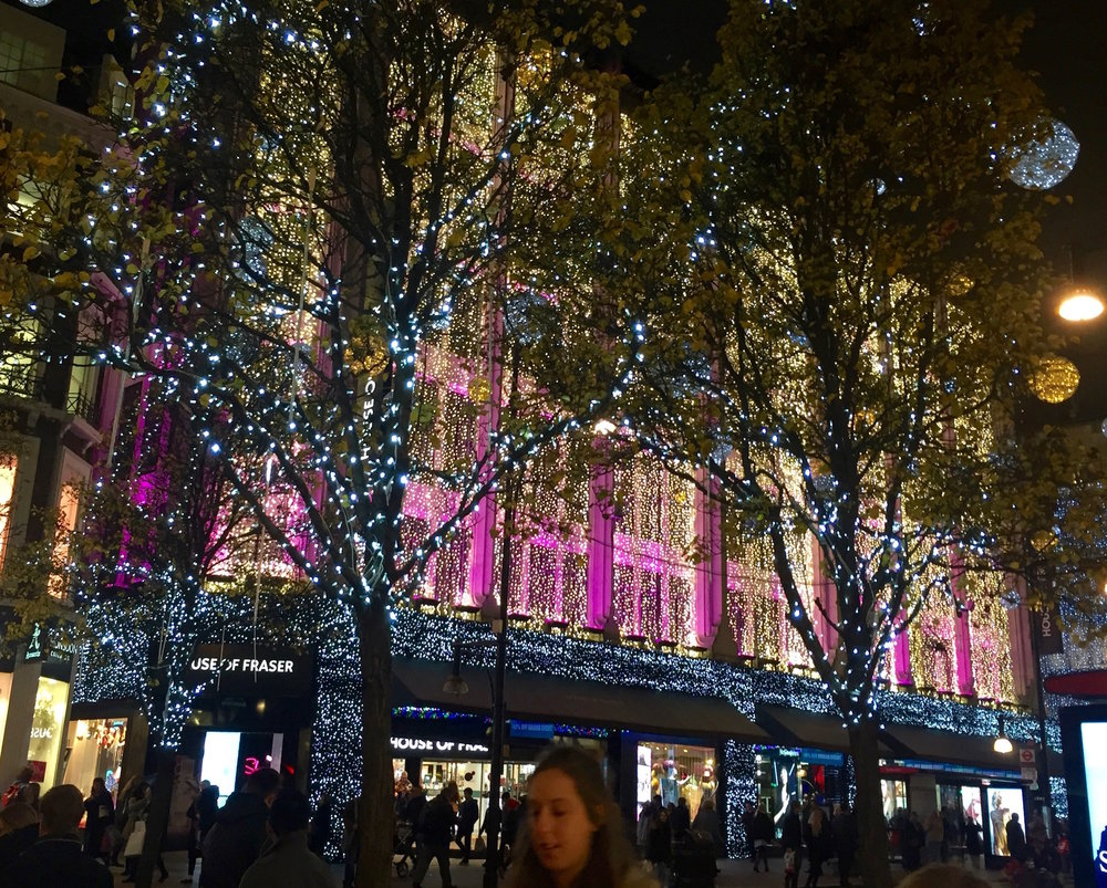 Christmas at House of Fraser Oxford Street, London
