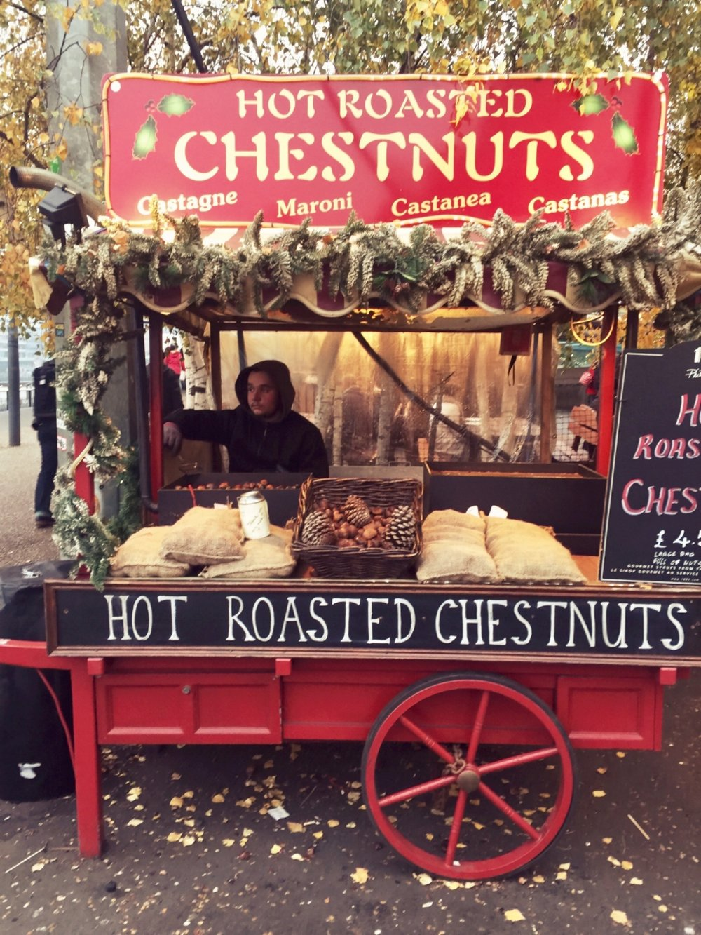 Roasted Chestnut at The Southbank Christmas Market