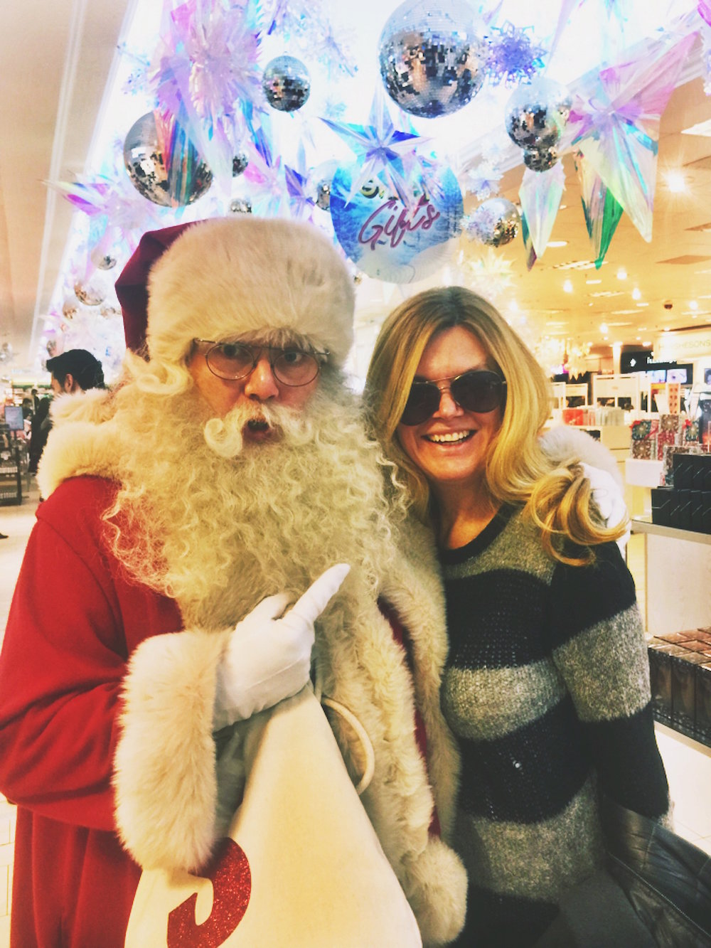Abroad in London with Santa at Selfridge's