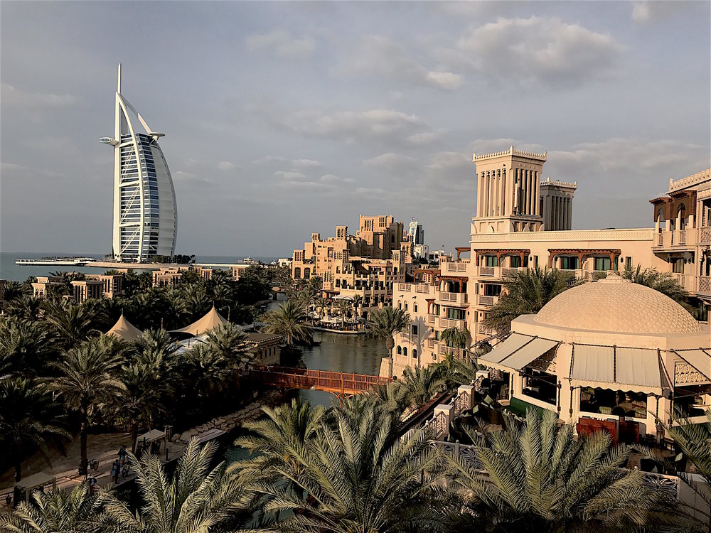 Looking at the Burj Al Arab from Hotel Al Qasr