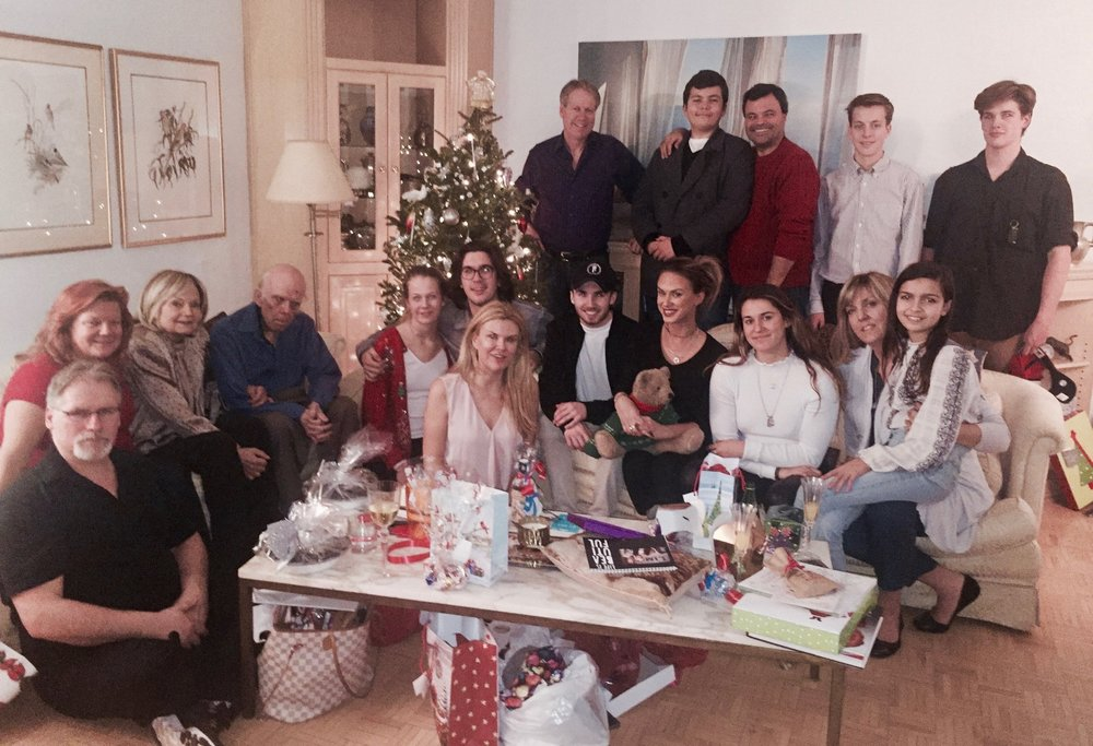 Family Christmas 2016. From l to r, Ron, Susan, Elena, Alan (father) Britlyn, Nolan, Me (Christina) Bruce, Oliver, Eden, Adam, Brian, Samantha, Braeden, Victoria, Grace and Nicholas.