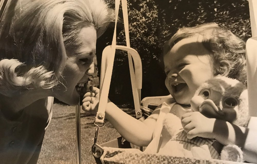 Elena Dixon and Christina Ford 1962. Mother and daughter