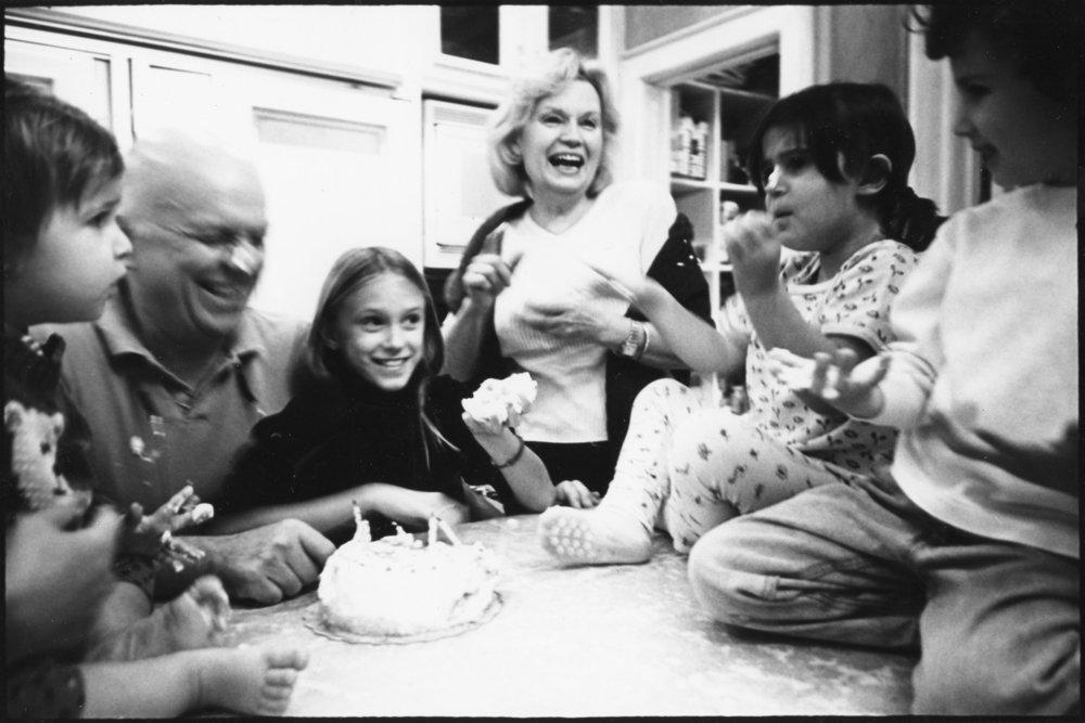 Family Celebrating a birthday.