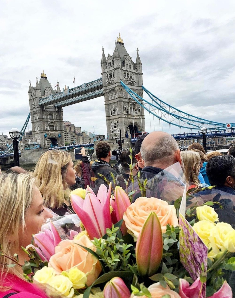 Carrying Flowers. Paying respects to the victims of the London Bridge Terrorist attack.