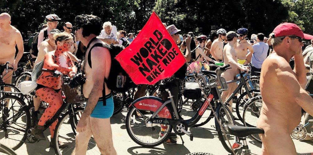 World Naked Bike Ride 2017 . Hyde Park, London