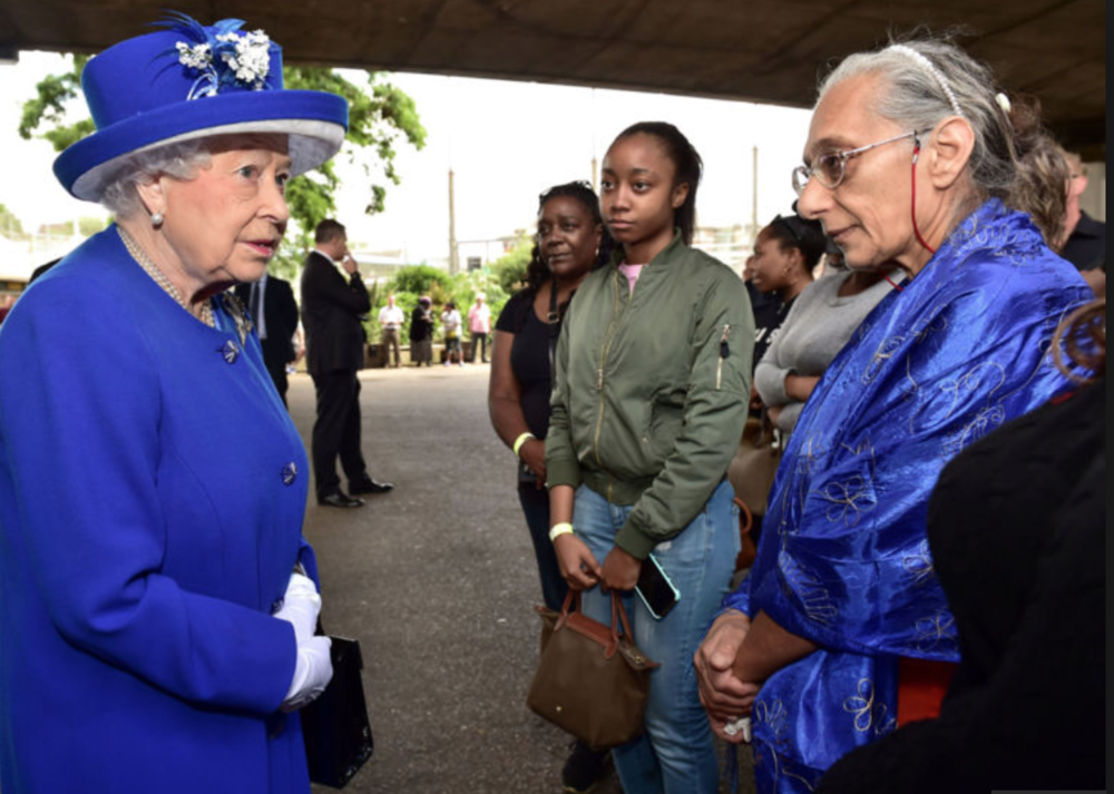 Queen visits those victims and families of the Grenfell Tower fire. London