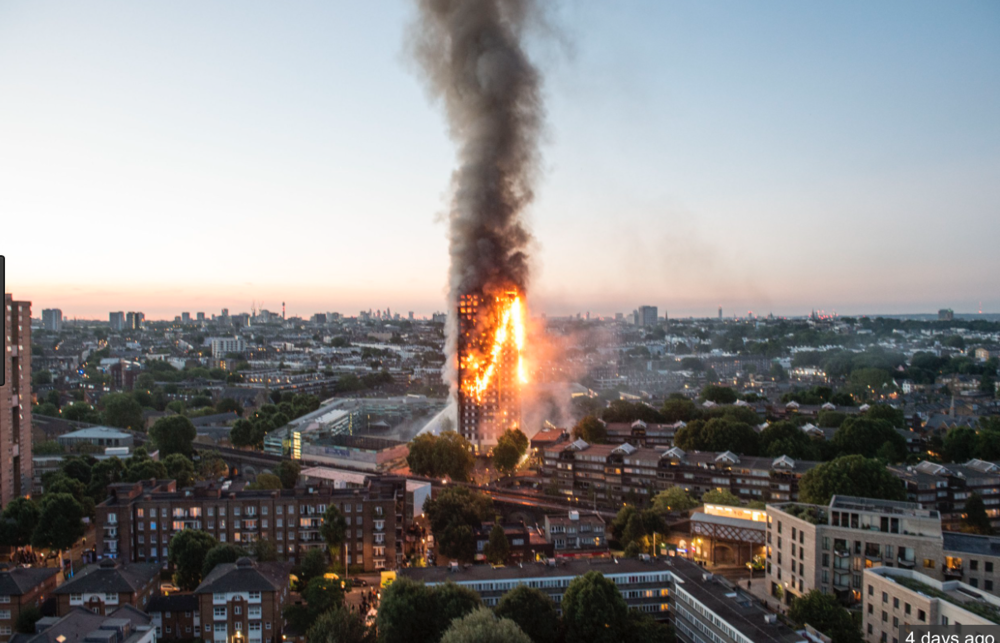 Grenfell Tower Fire. London