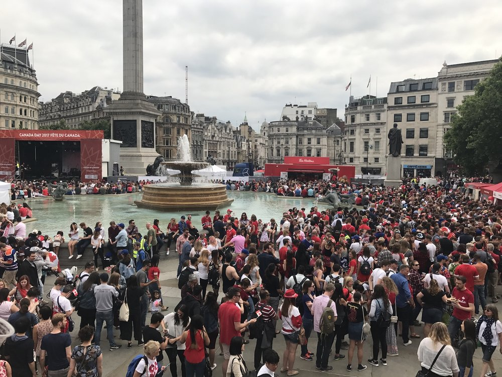 Trafalgar Square Canada Day 2017