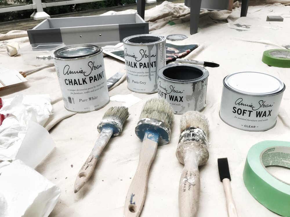 Annie Sloan Chalk Paint and my summer project
