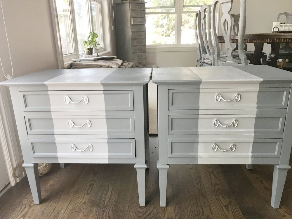 Finished Painted Side Tables
