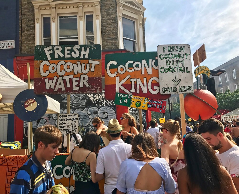 Coconut Water for Sale at Notting Hill Carnival 2017