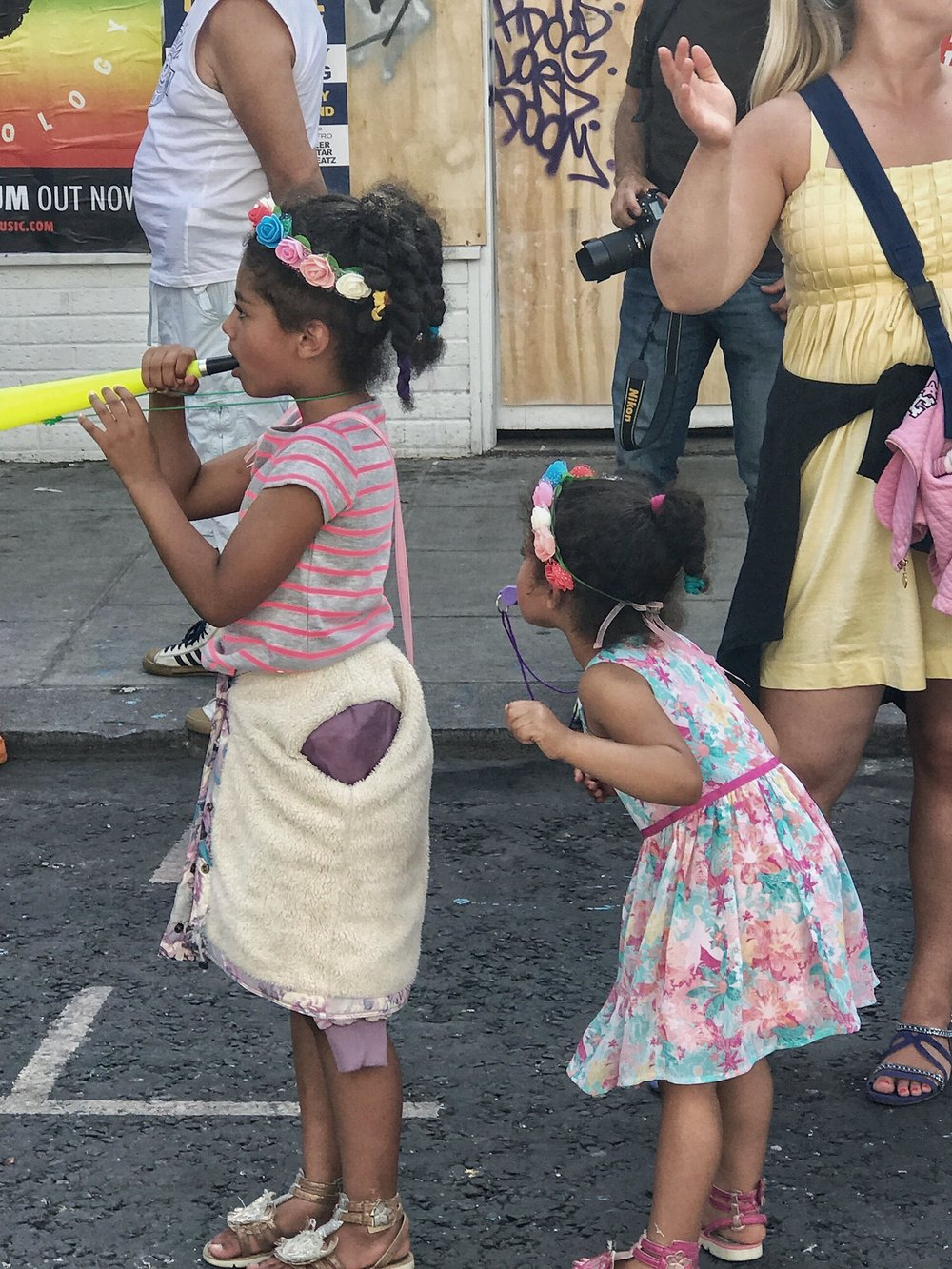 Little Girls at Notting Hill Carnival 2017