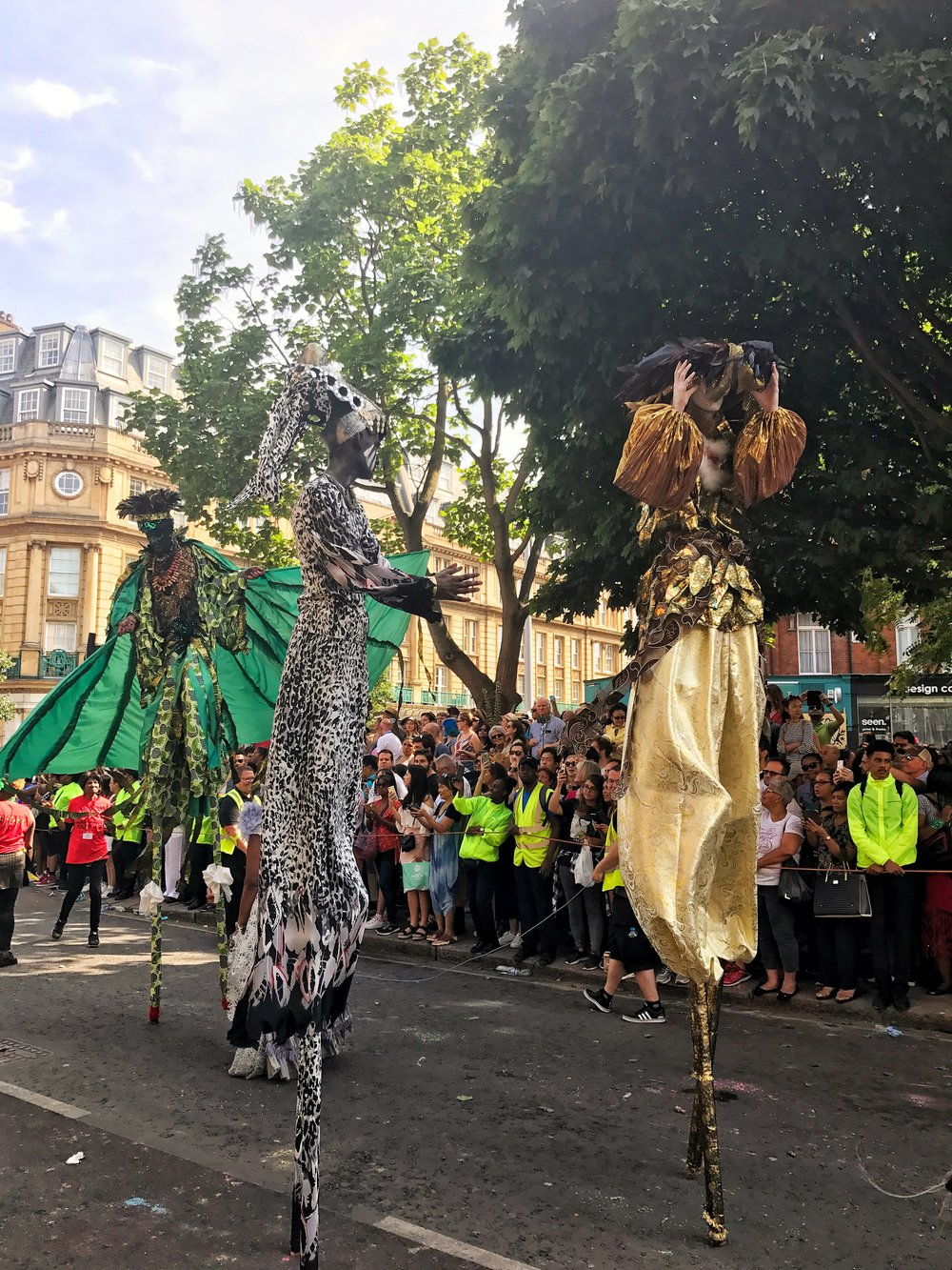 Stilts at Notting Hill Carnival Parade
