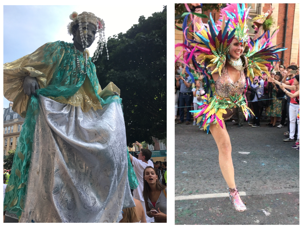 Dancers and Stilts. Notting Hill Carnival