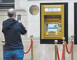 Gold Barclay's First ATM