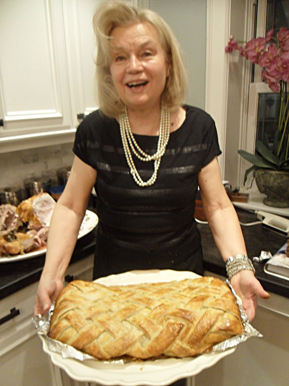 Elena with her Beef Wellington