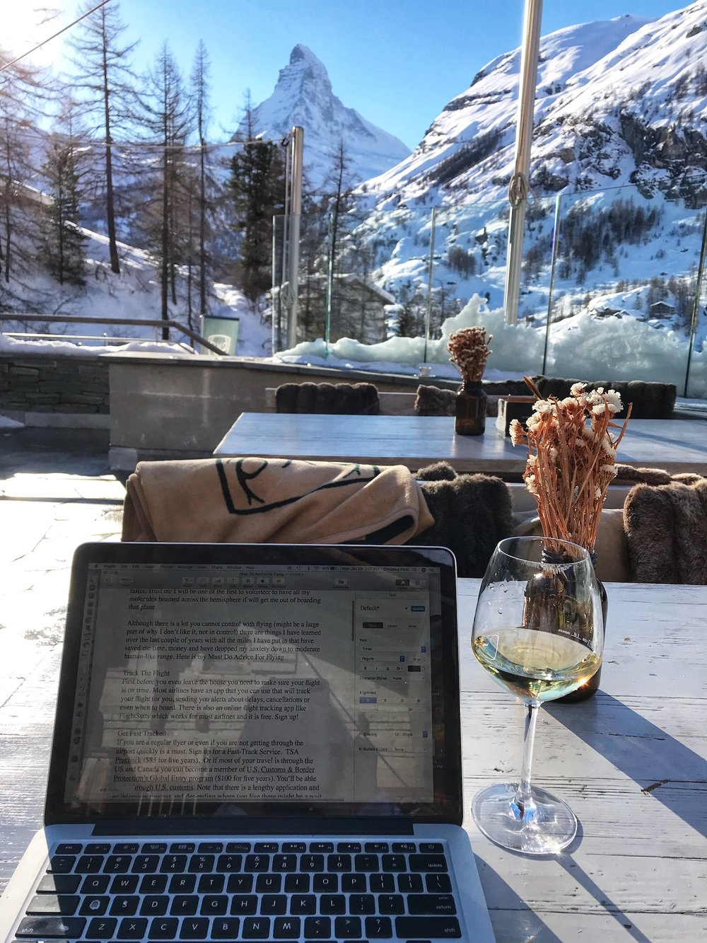 "My ""Office"" in The Swiss Alps. A Broad In London"