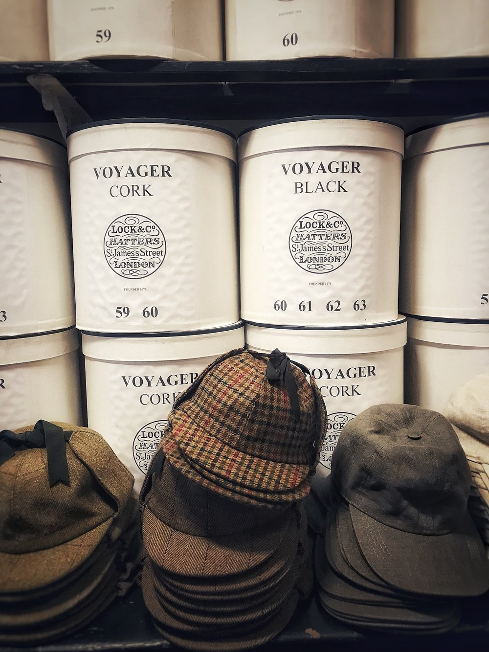 HATS AND HAT BOXES. From Lock & Co.