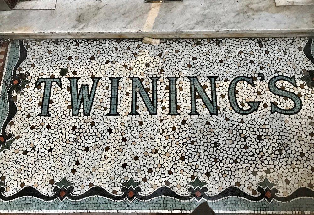 Twinings Mosaic Entrance. London