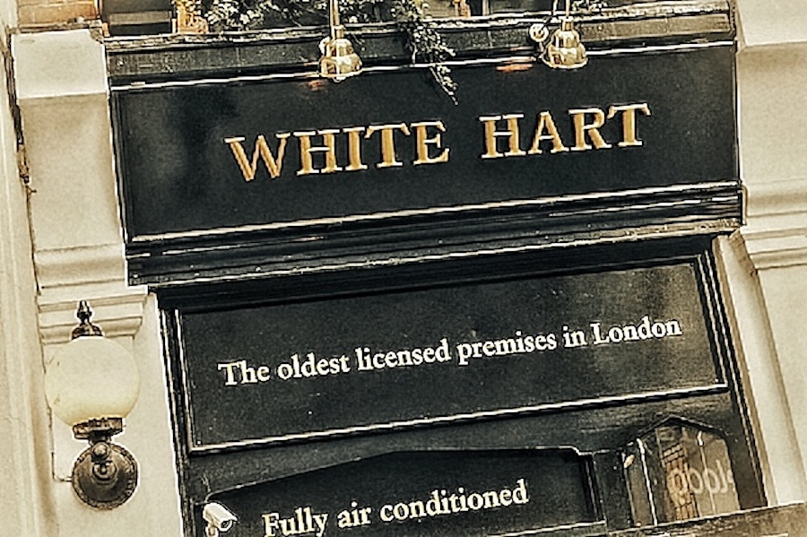 White Hart Oldest Licensed Bar in London