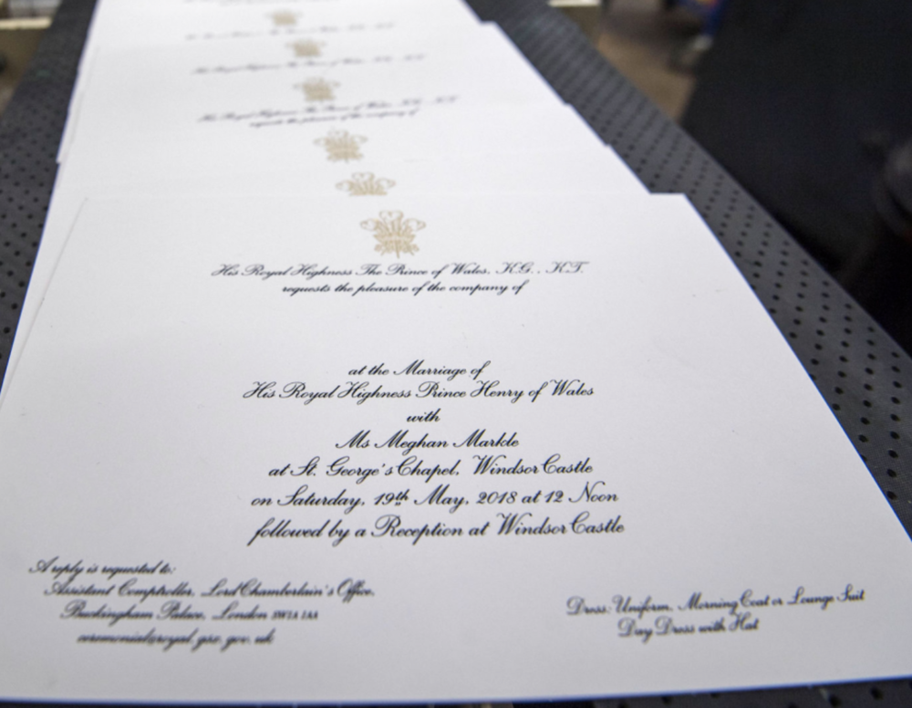 Prince Harry and Meghan Markle's Wedding Invites