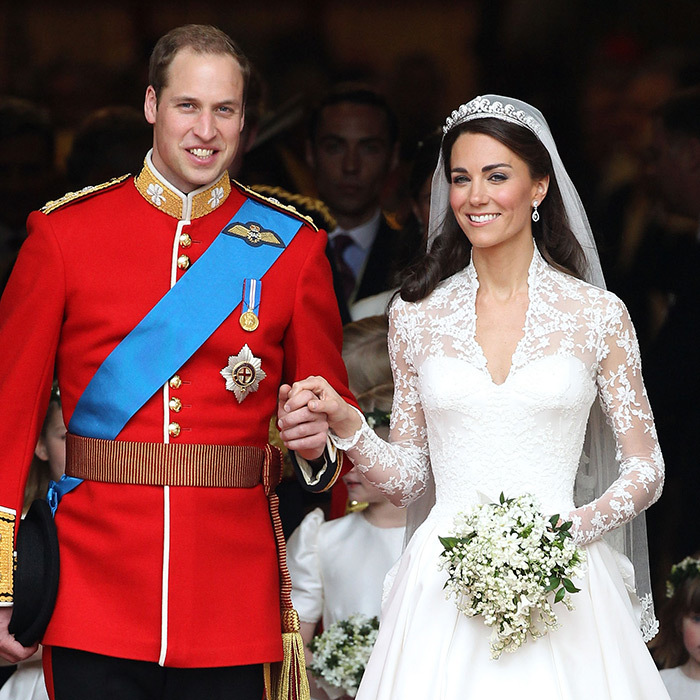 Prince William and Katherine on their Wedding Day.