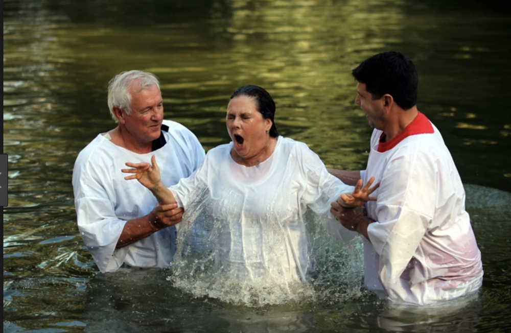 Woman being Baptized