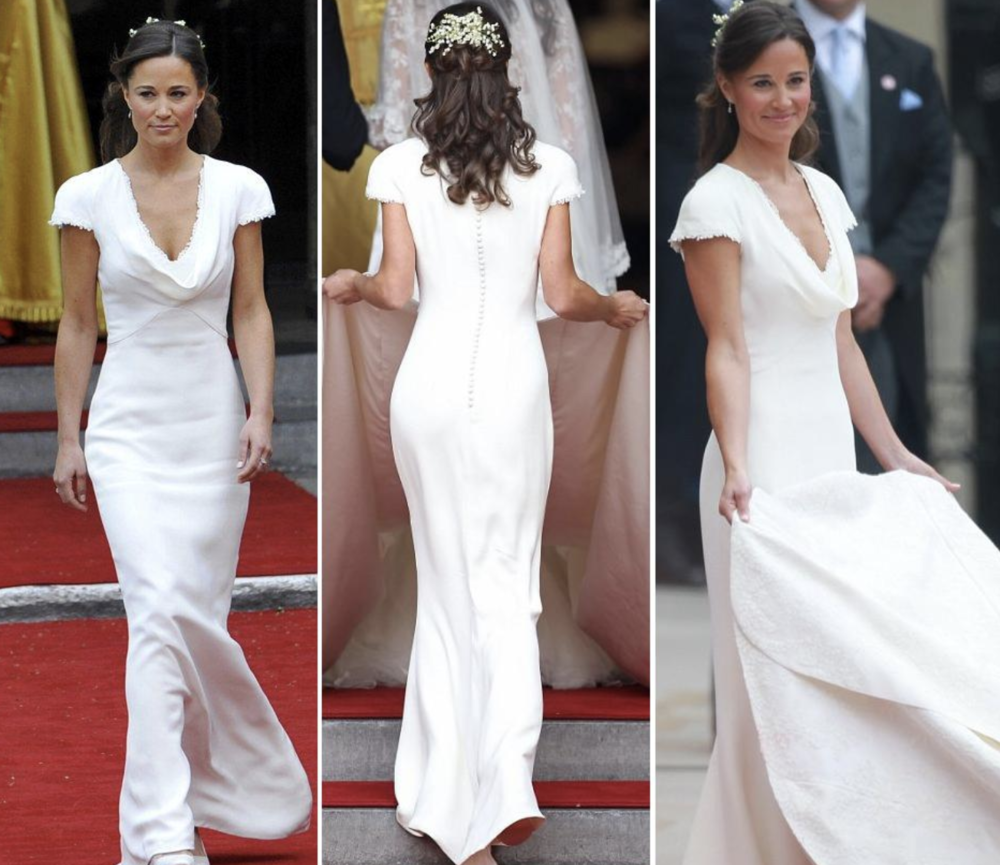Pippa Middleton at her sister Kate's wedding to Prince William