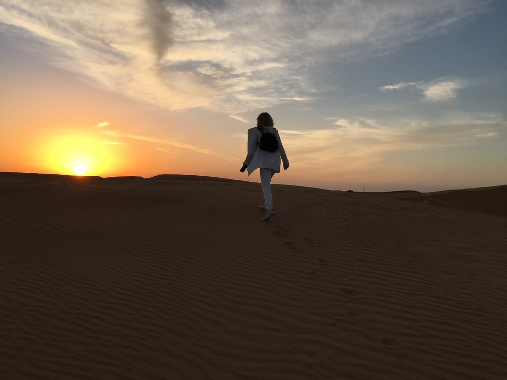 Walking the dessert In Dubai. A Broad In London.jpg