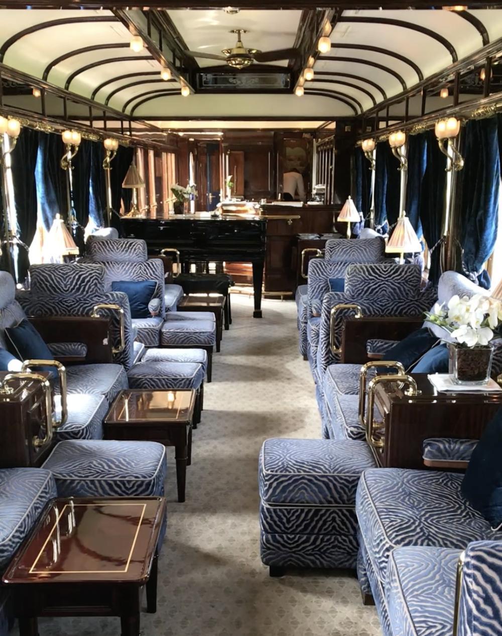 Art Deco Bar Car 3674 onboard the Orient Express