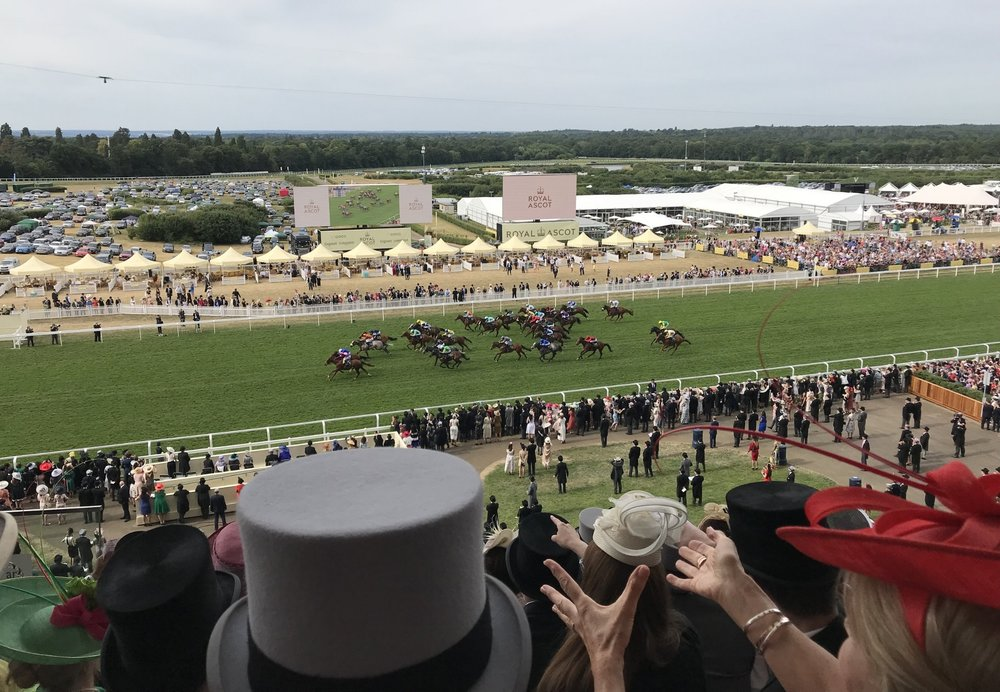 Royal Ascot. The horses near the finish line