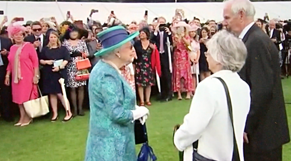 A Broad In London Trying to get a selfie with the Queen