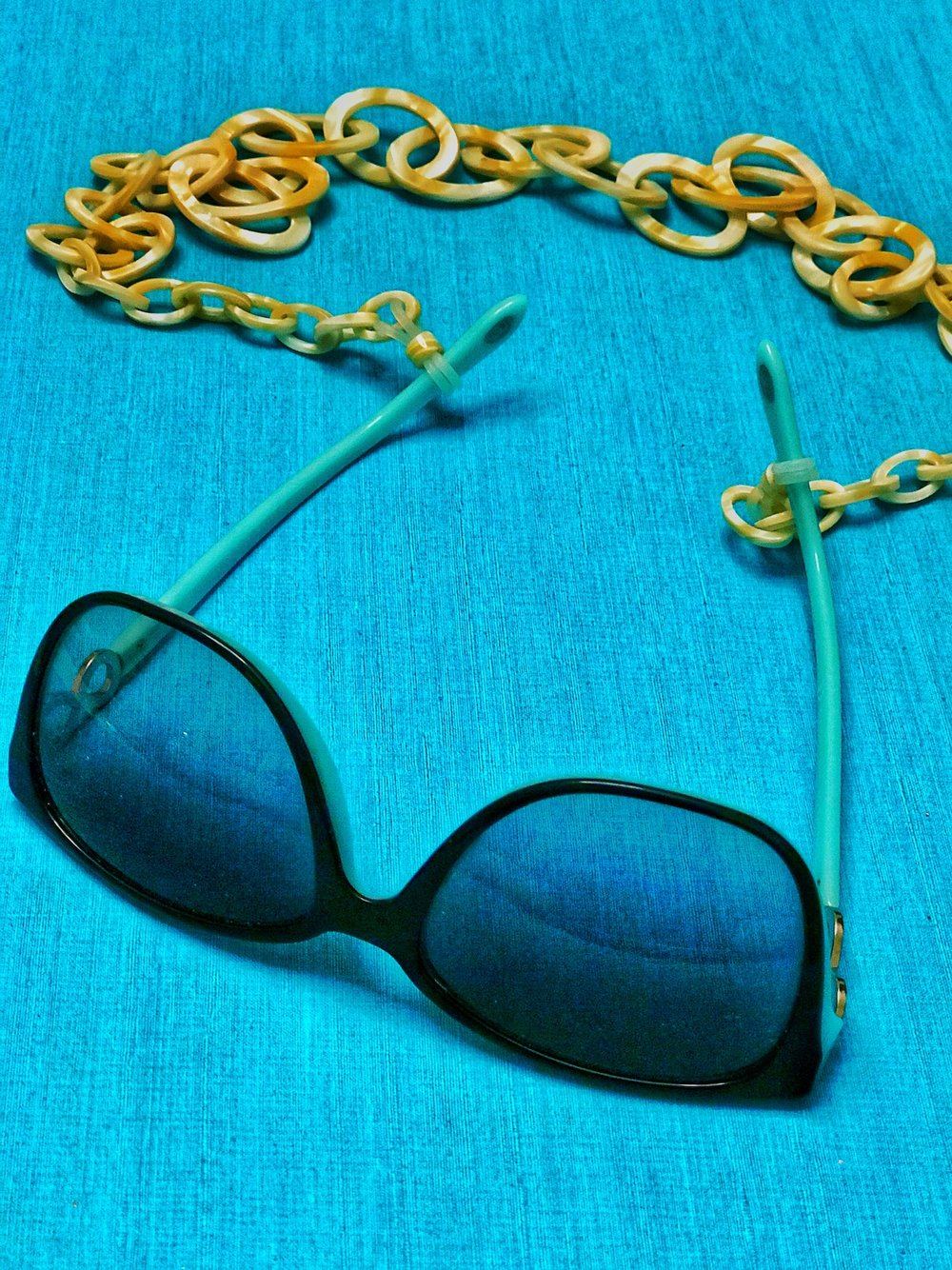 Glasses Chain with Tiffany glasses. A Broad In London's Top Five Things of 2018