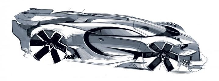 Bugatti Vision Gran Turismo - Sketch do Sasha Selipanov(Fonte: Bugatti)
