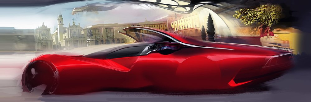 Car sketch by Liviu Tudoran