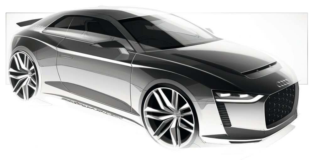 Audi Quattro Concept by Ernest Tsarukyan