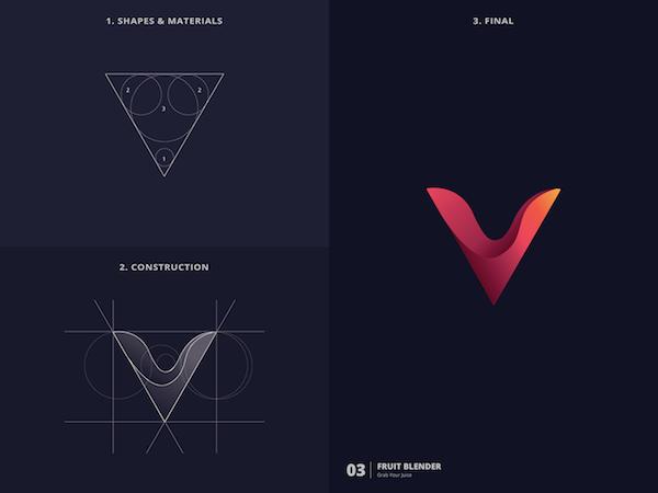 25 logos utilizando a golden ratio -